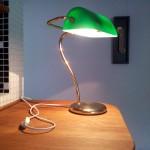 Bordslampa i mässing lagad