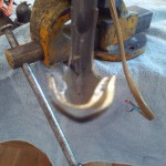 Takkrona i bron - mässing - elektrisk