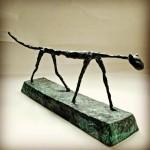 Skulptur av Giacometti Lagad