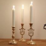 Ljusstakar i Mässing  Polerade